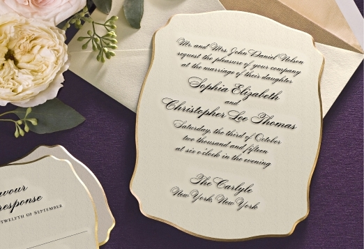 Classic engraved invitation