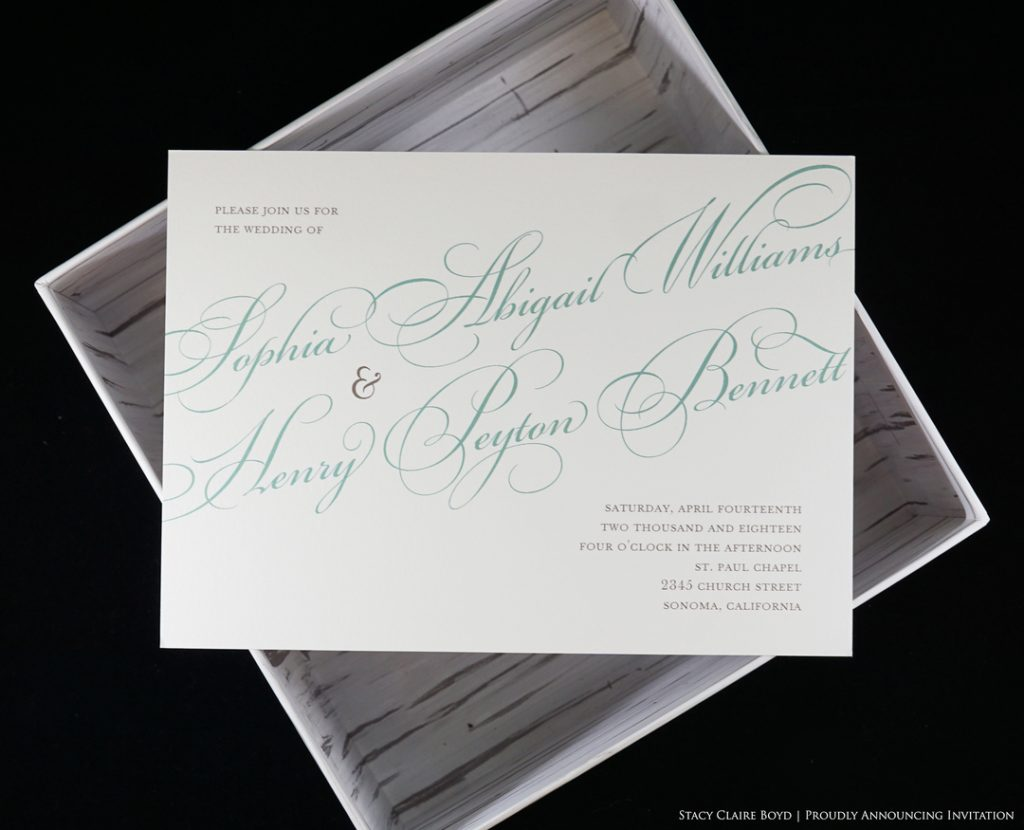 proudly announcing printswell wedding invitation
