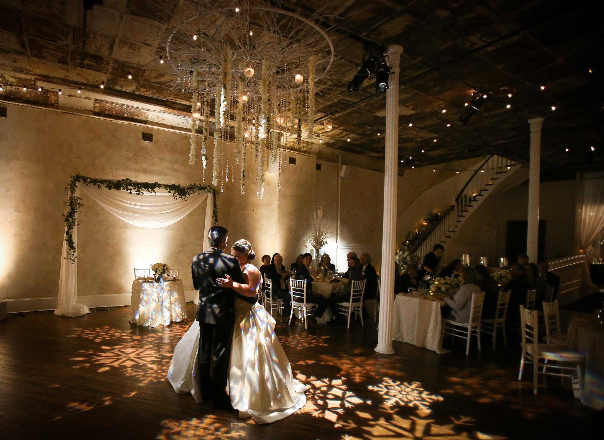 winter wedding dance floor