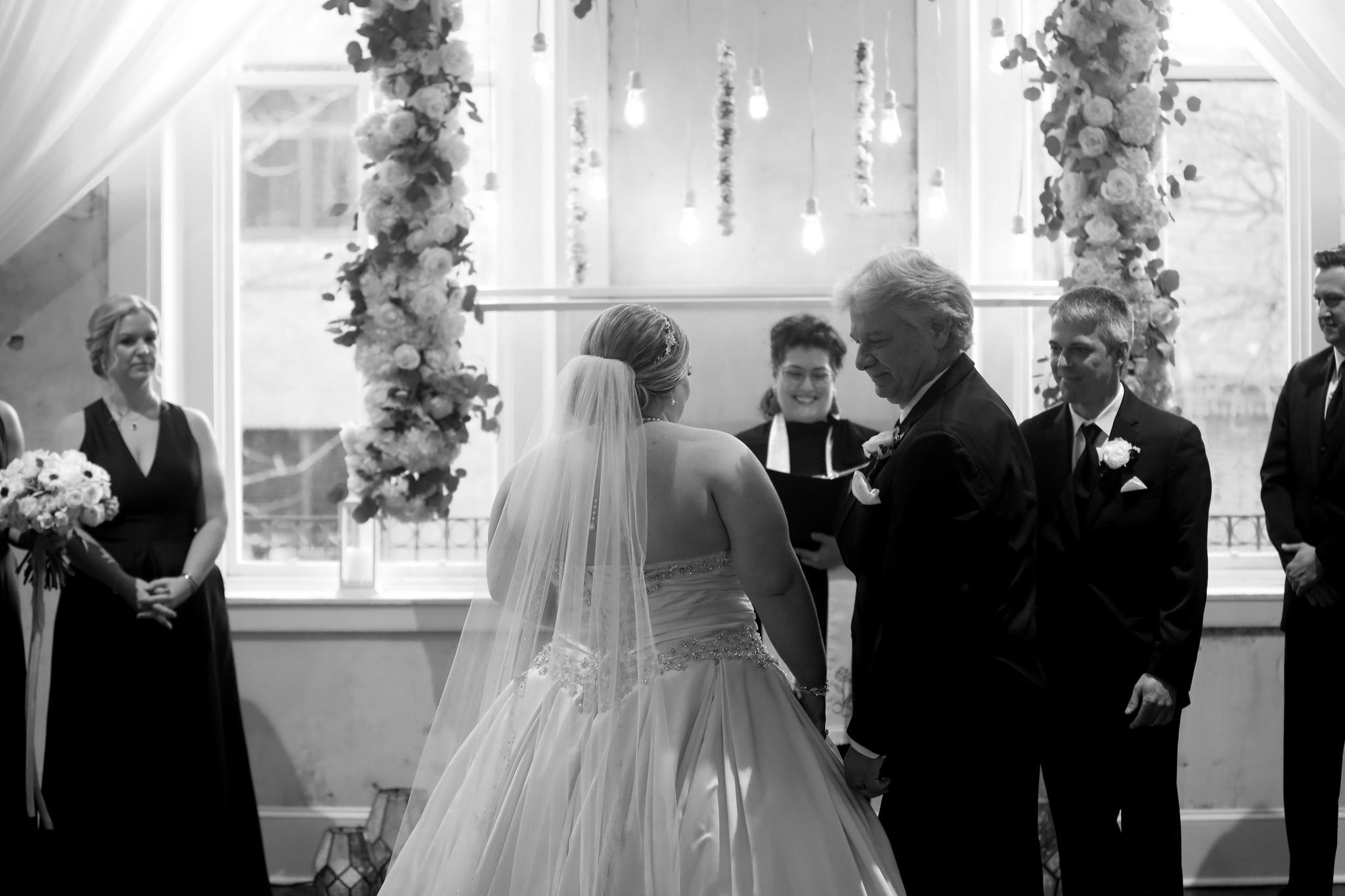 winter wedding veil