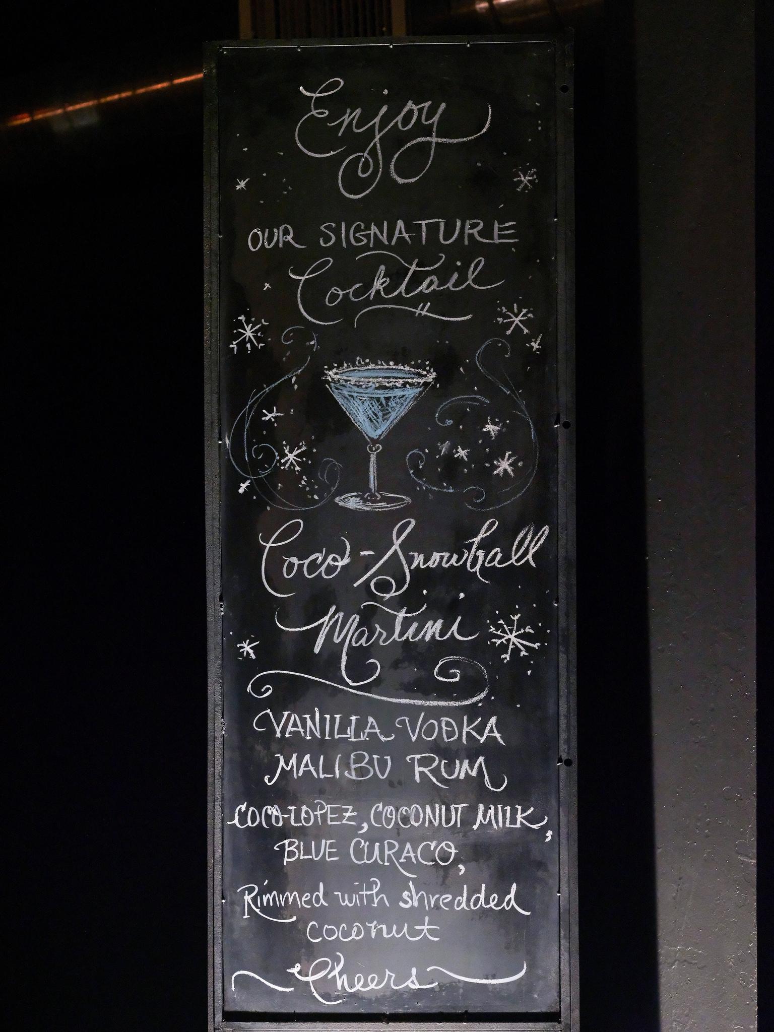 winter wedding cocktails