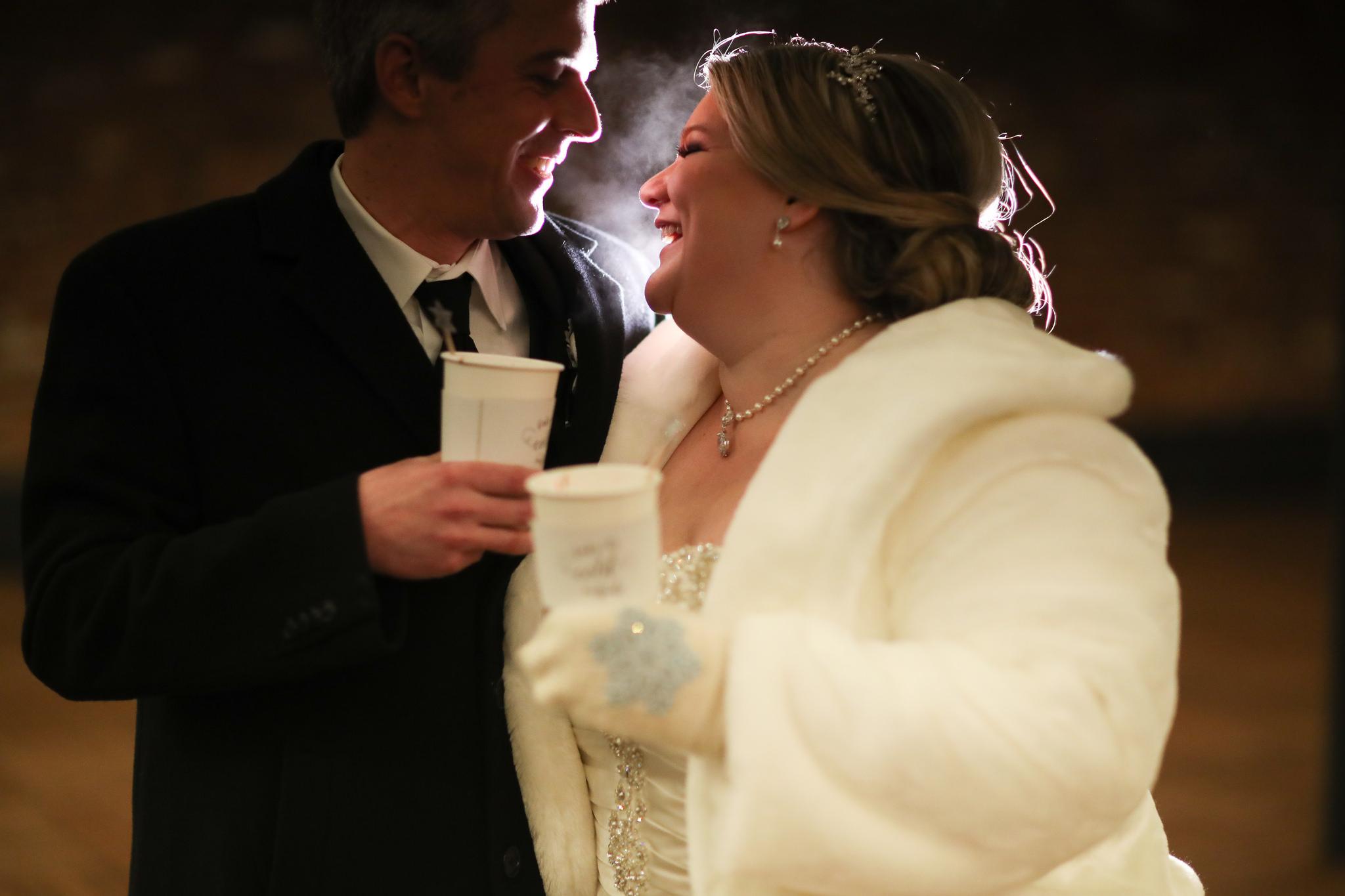 winter wedding mittens