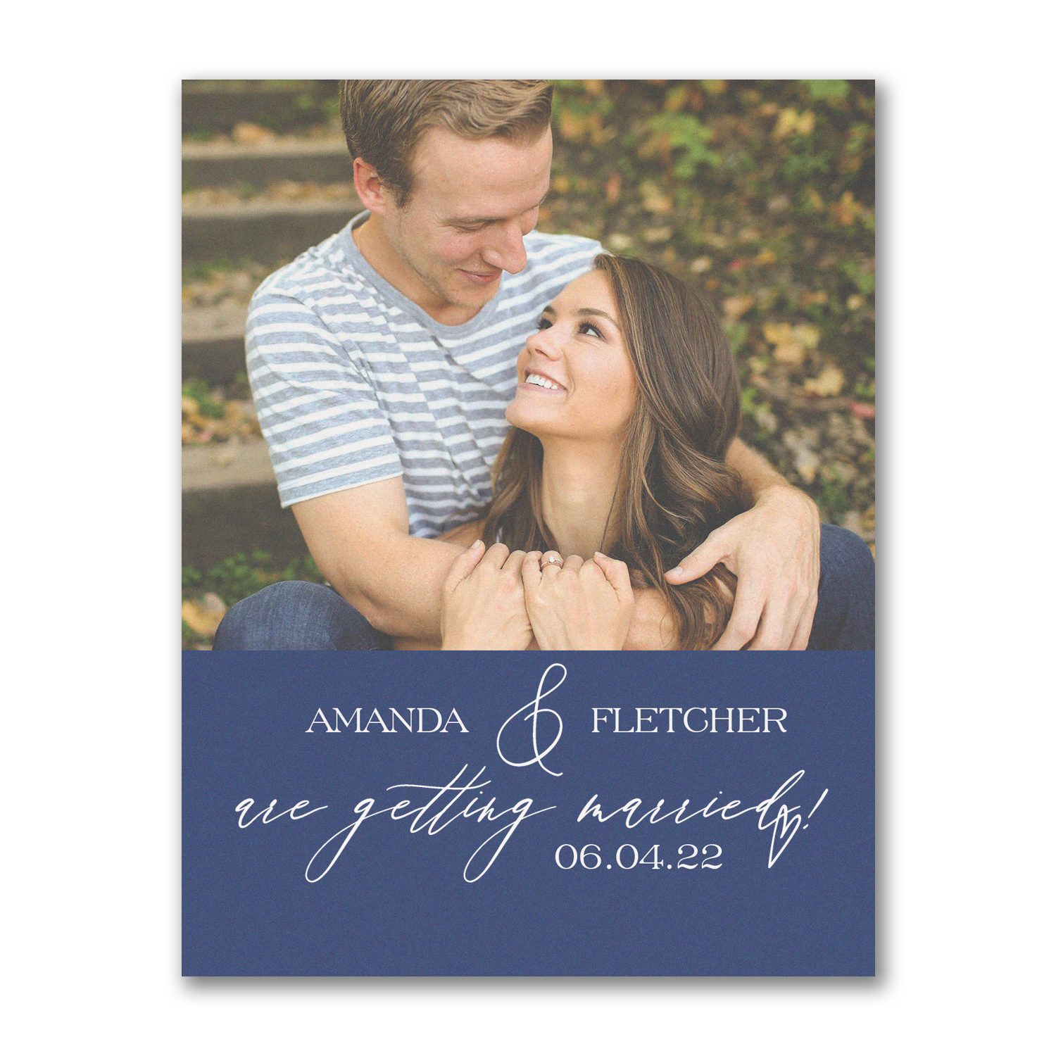 artistic script photo save the date carlson craft