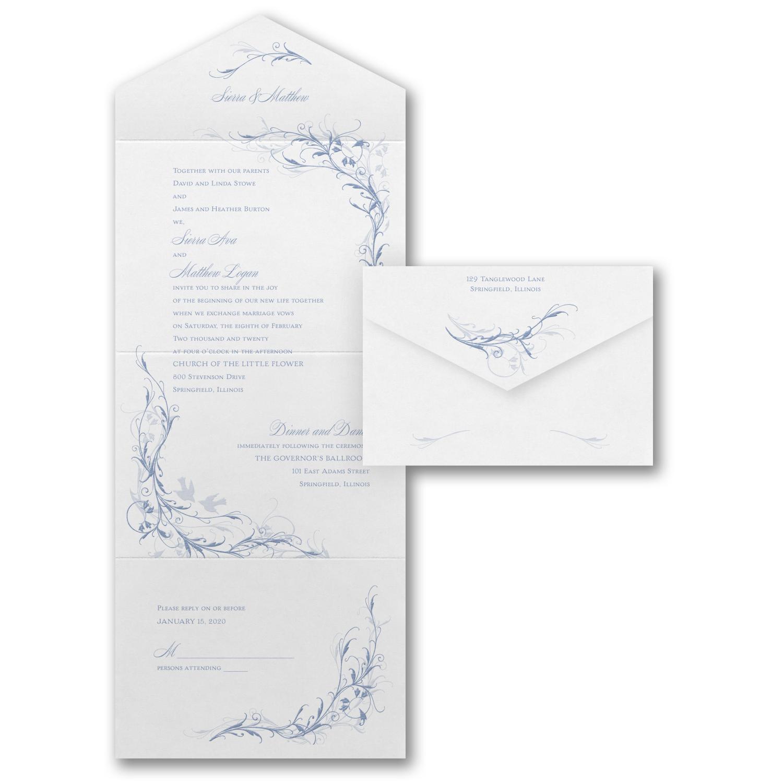 beautiful moments budget friendly wedding invitation