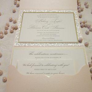 pebble paper blush invitation