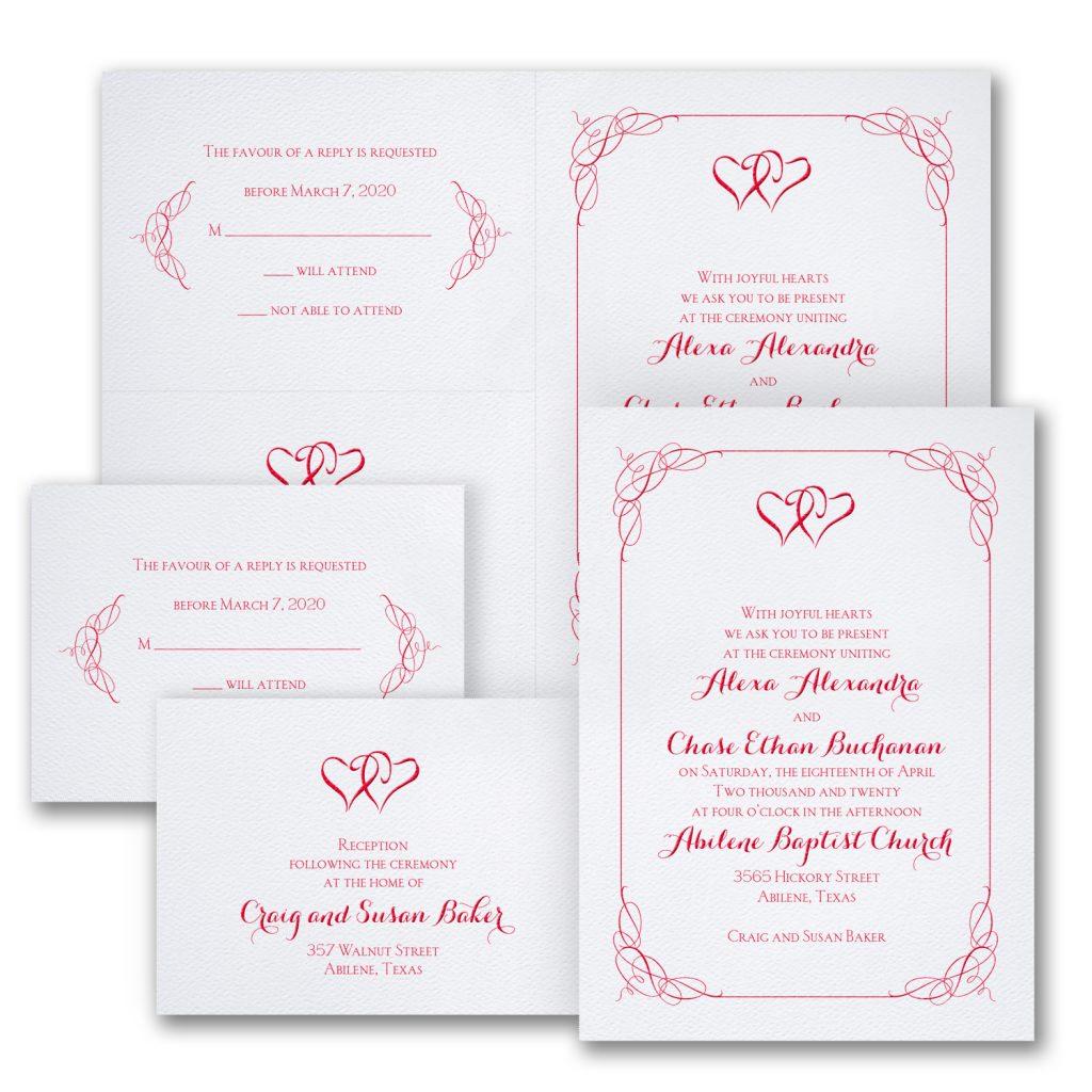 blissful hearts wedding invitation budget friendly