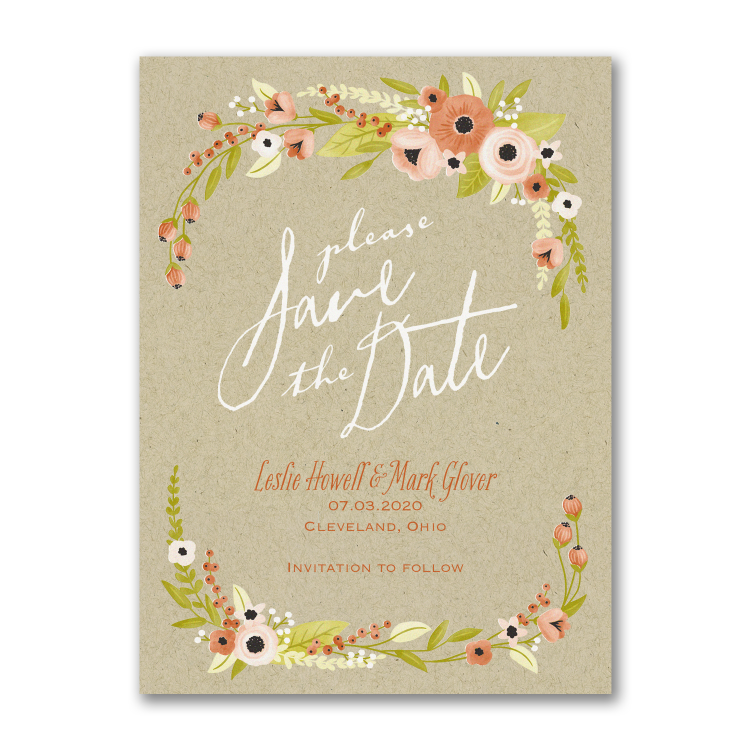 boho swag save the date card carlson craft