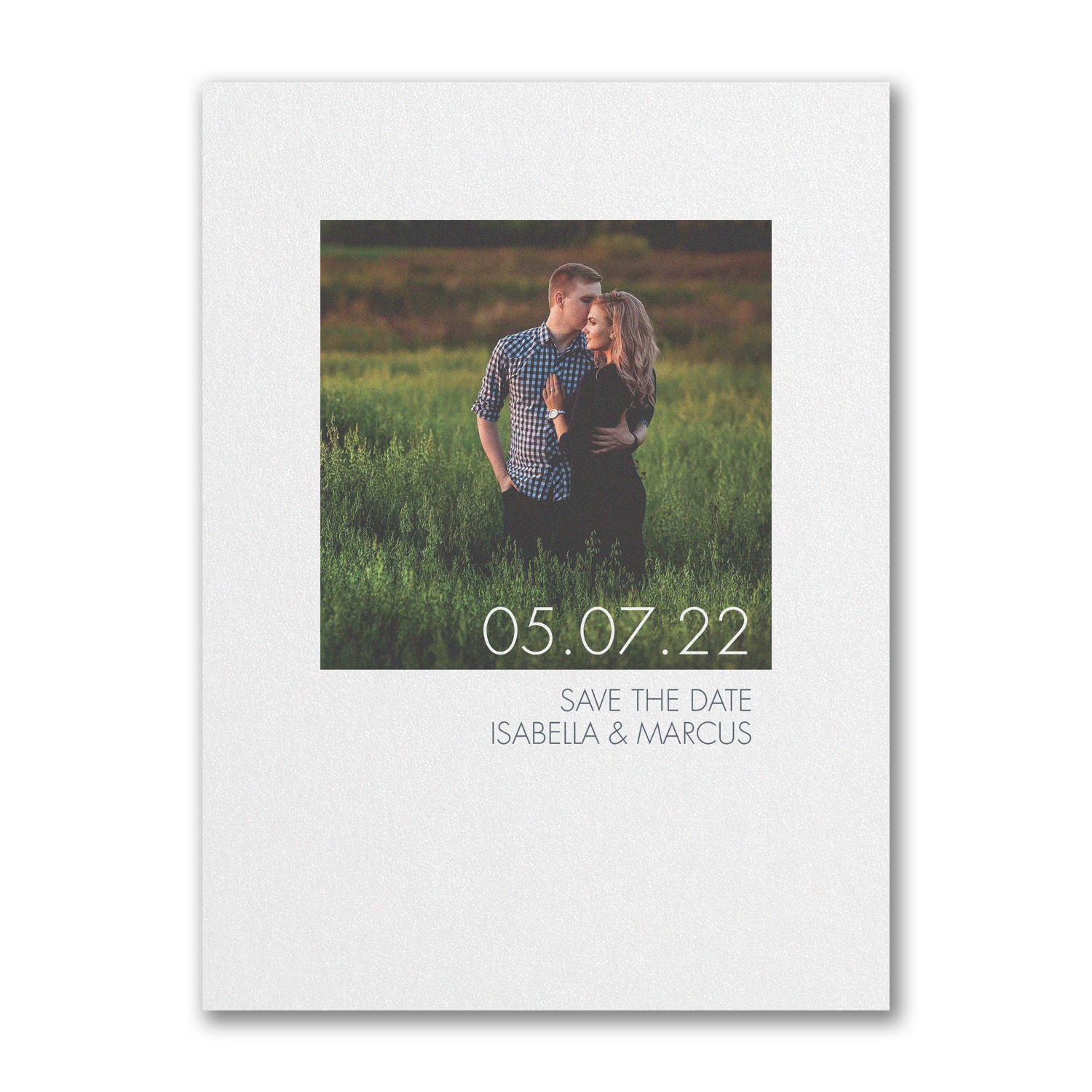 border love photo save the date card carlson craft