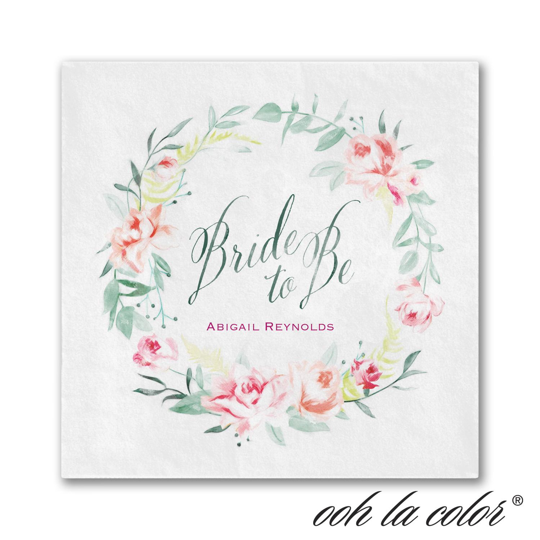 bridal wreath napkin bridal shower