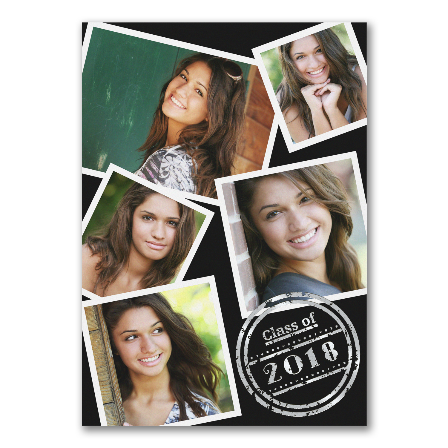 classic collage photo graduation announcement