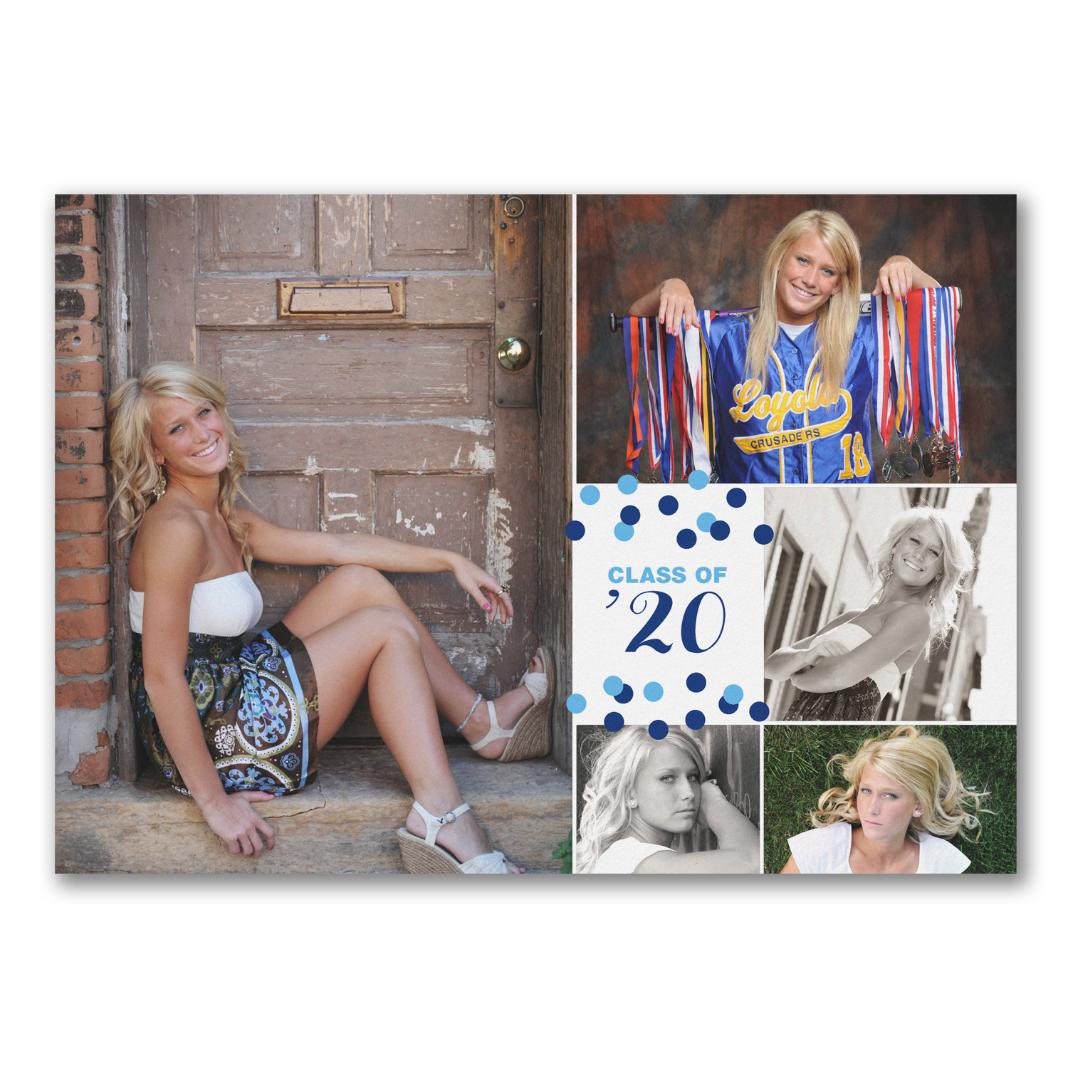 confetti grad photo graduation announcement