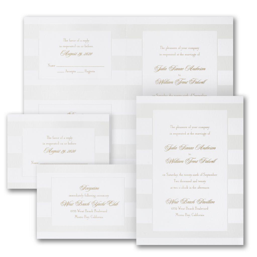 confident stripes wedding invitation budget friendly