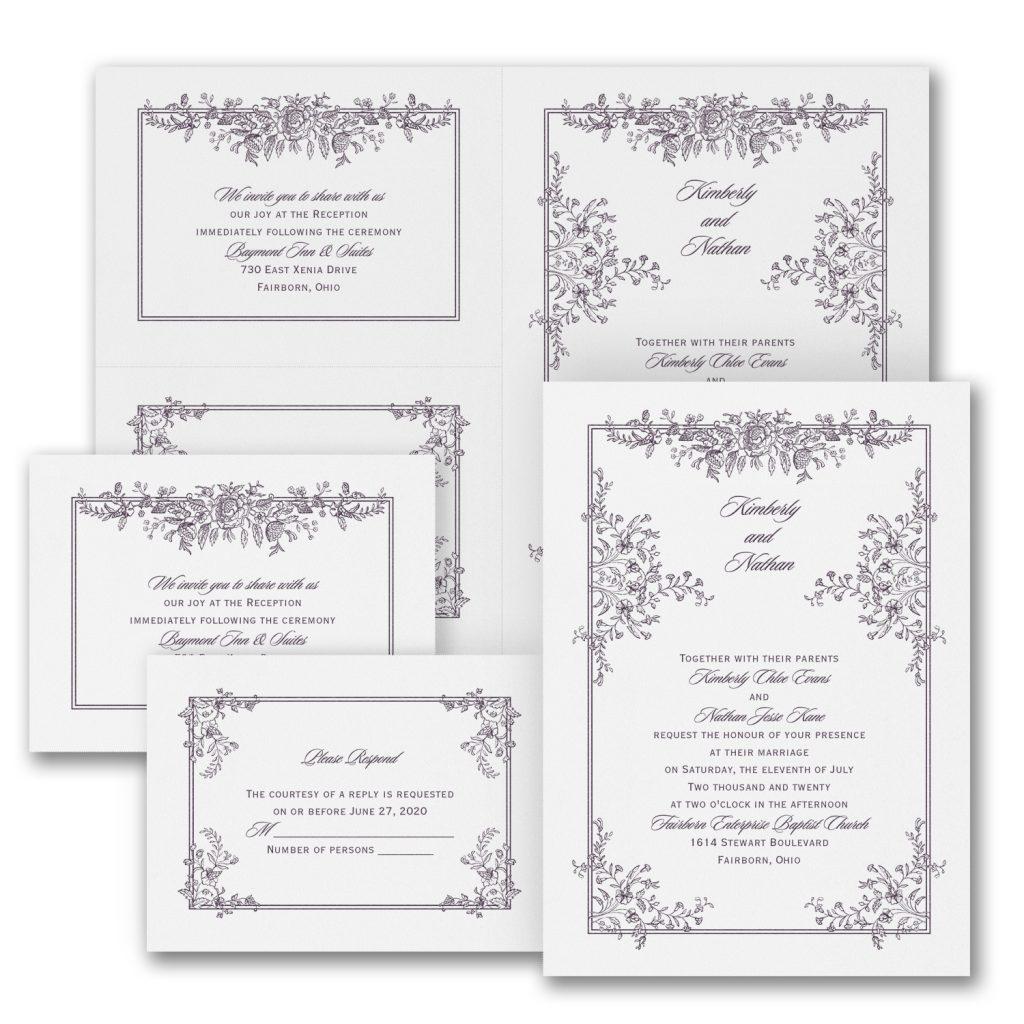 delicate entrance wedding invitation budget friendly