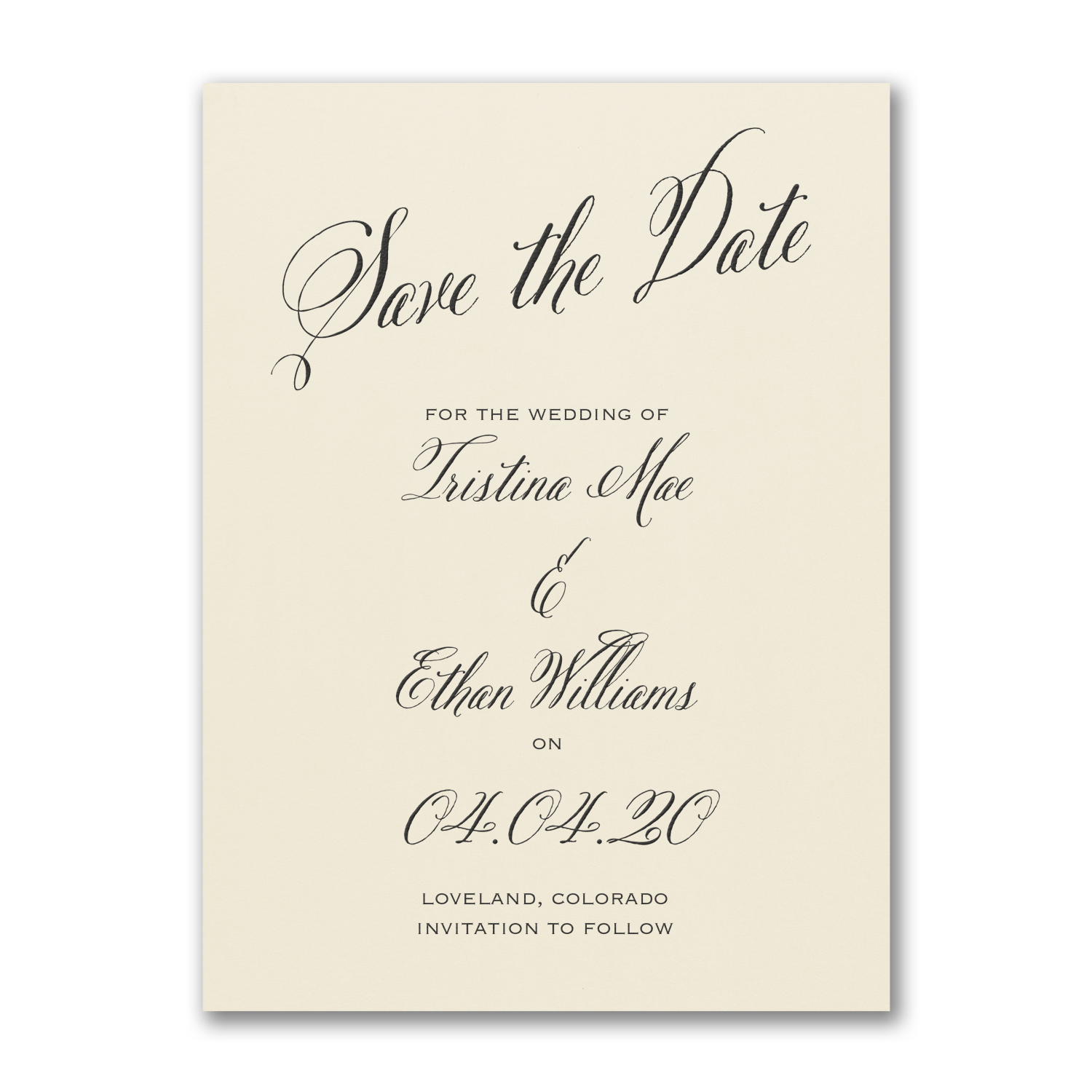 delightful date save the date card carlson craft