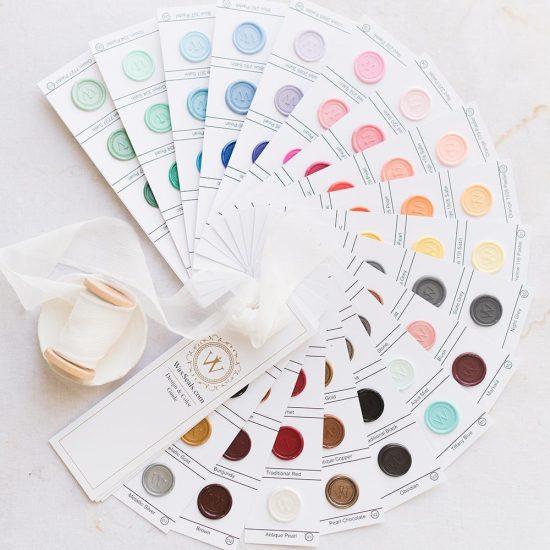 wax seals colors wedding invitations