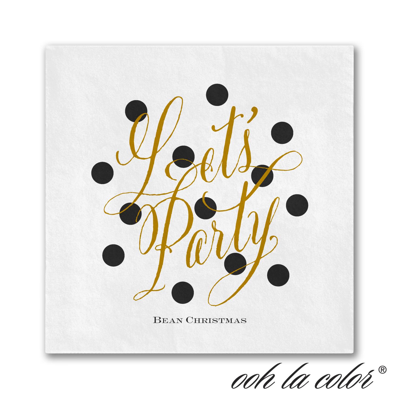 dots and shine napkin wedding