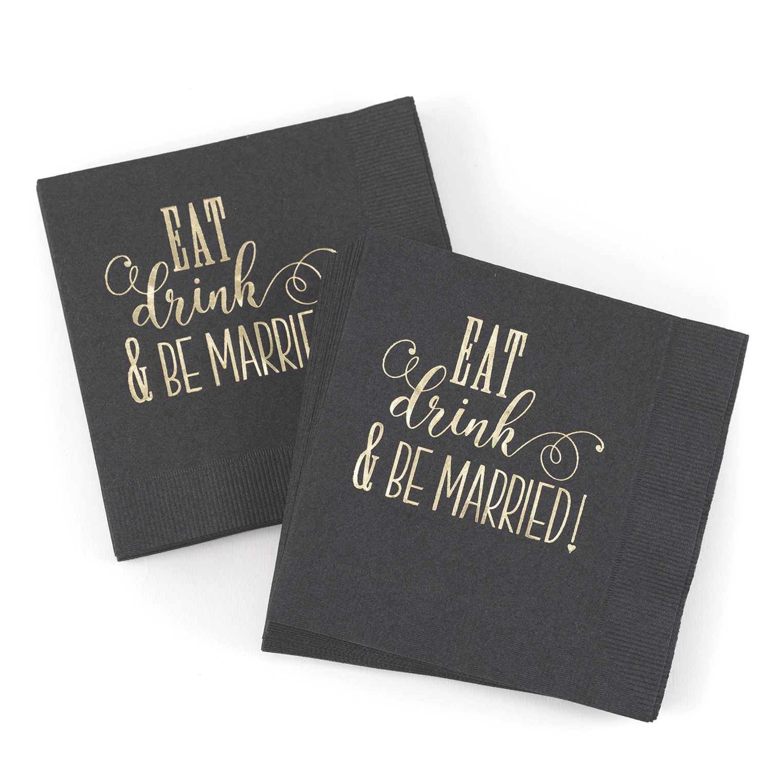 eat drink and be married cocktail napkins wedding