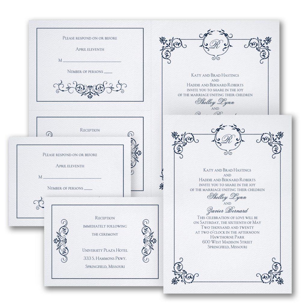 elegant affair wedding invitation budget friendly