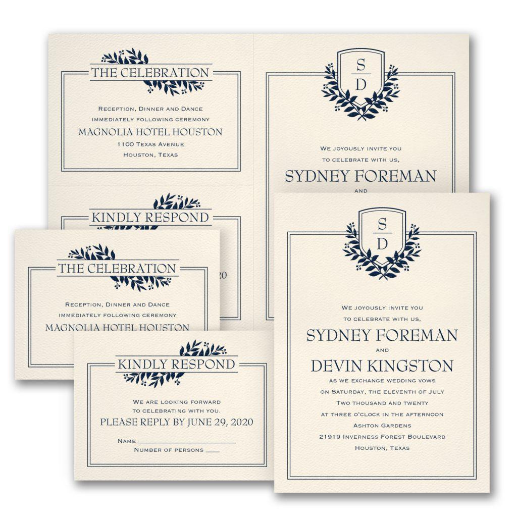 formal romance wedding invitation budget friendly