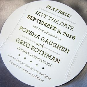baseball themed save the date