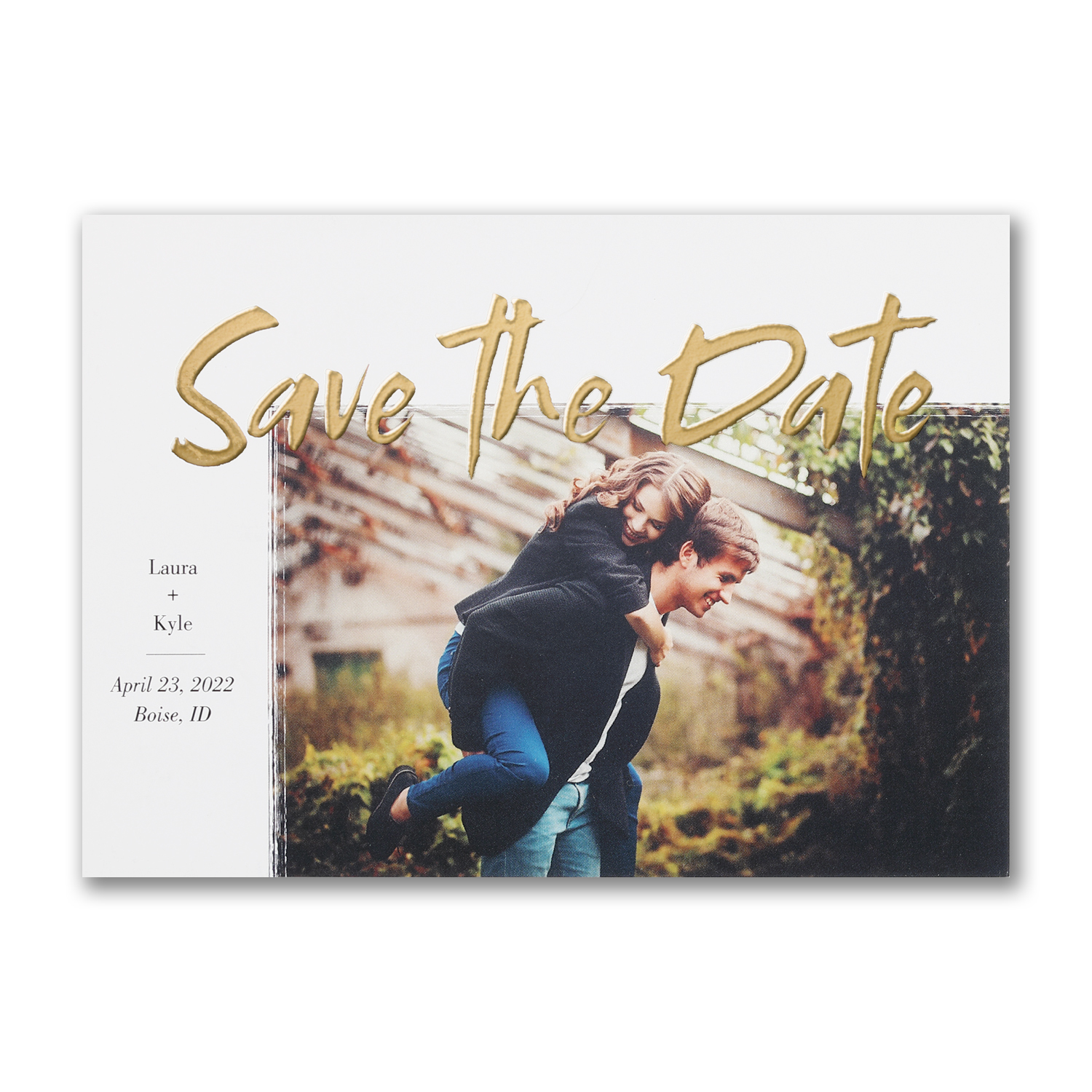 gleaming date photo save the date foil carlson craft