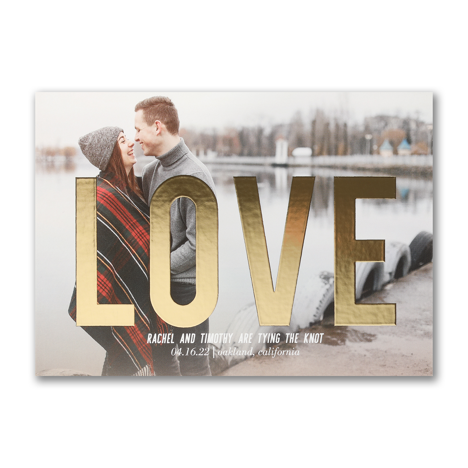 gleaming love photo save the date foil carlson craft
