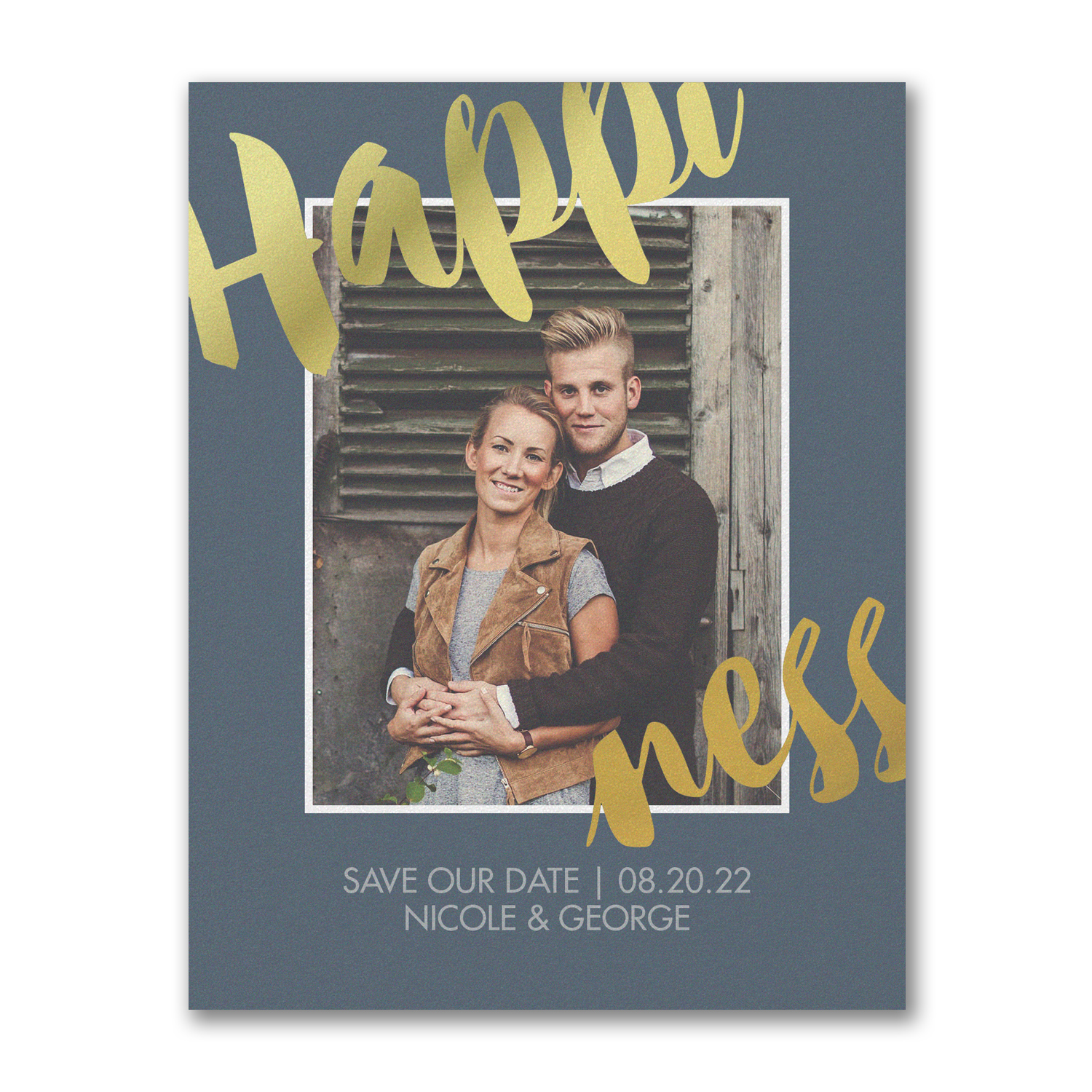happiness photo save the date carlson craft