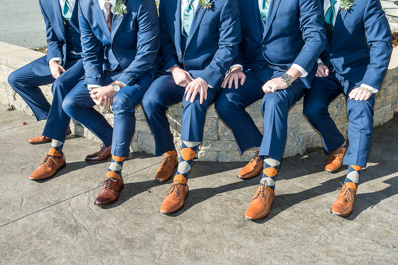 harvest view barn at hershey farms wedding groomsmen socks