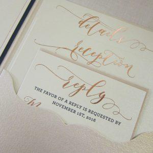 rose gold foil stamping