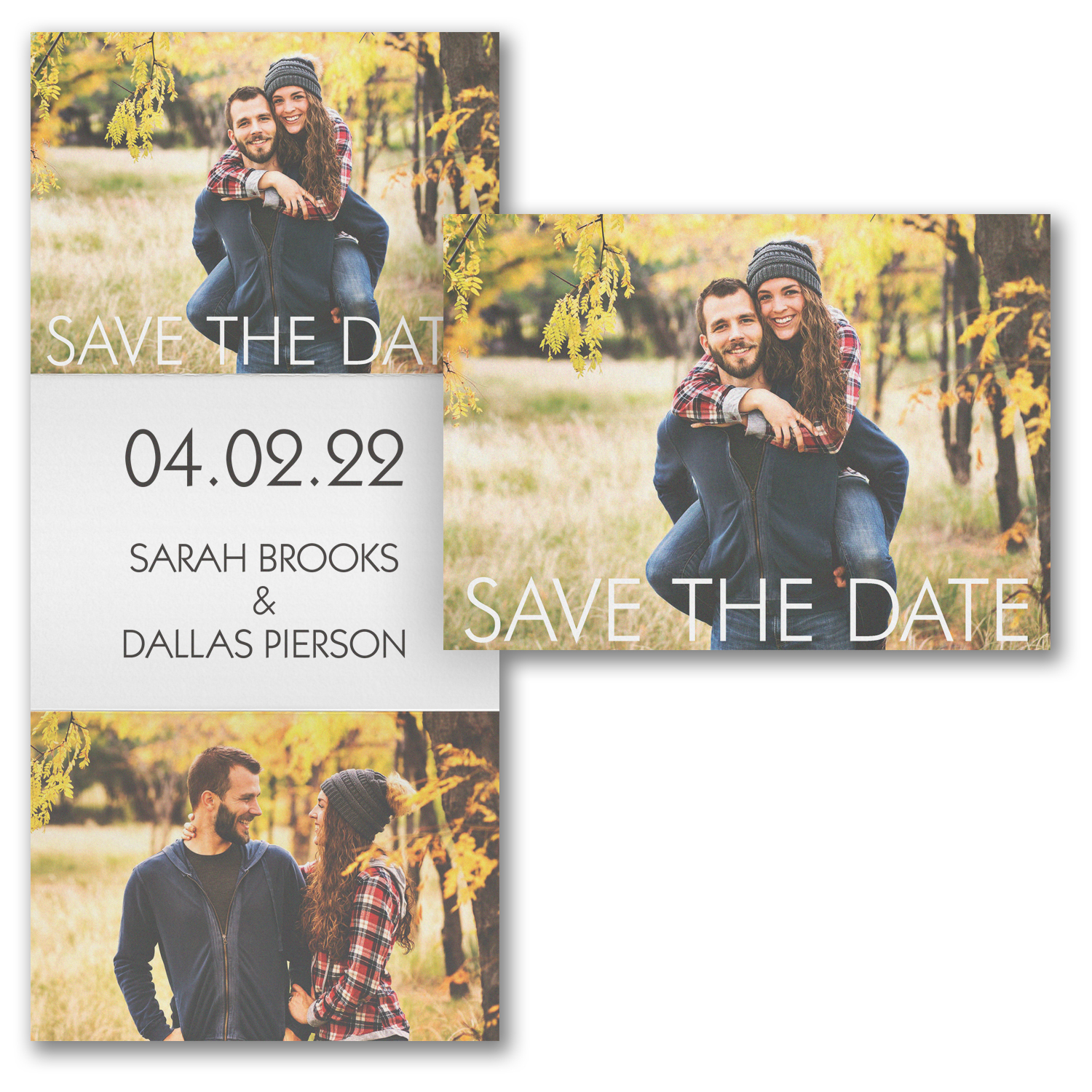 important date trifold photo save the date carlson craft