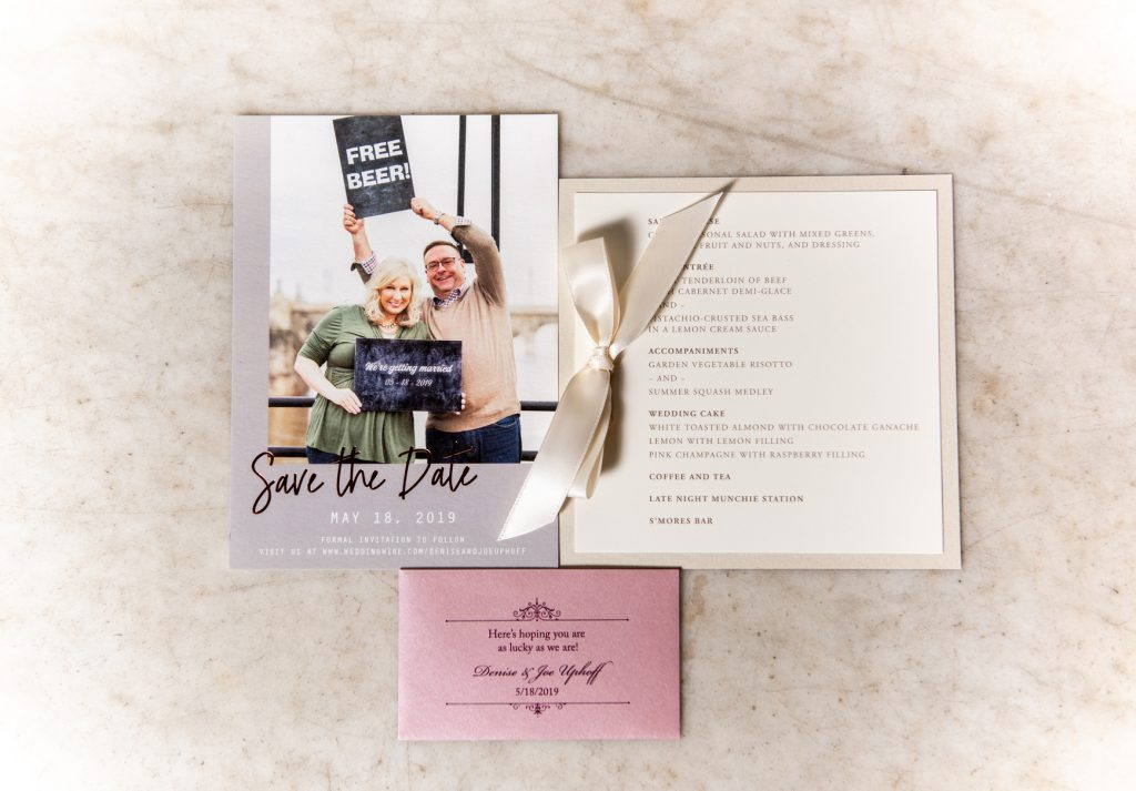 persnickety invitation studio menus wedding accessories