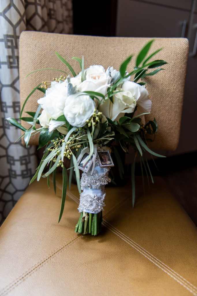 florals emerald stone photography wedding day bouquet