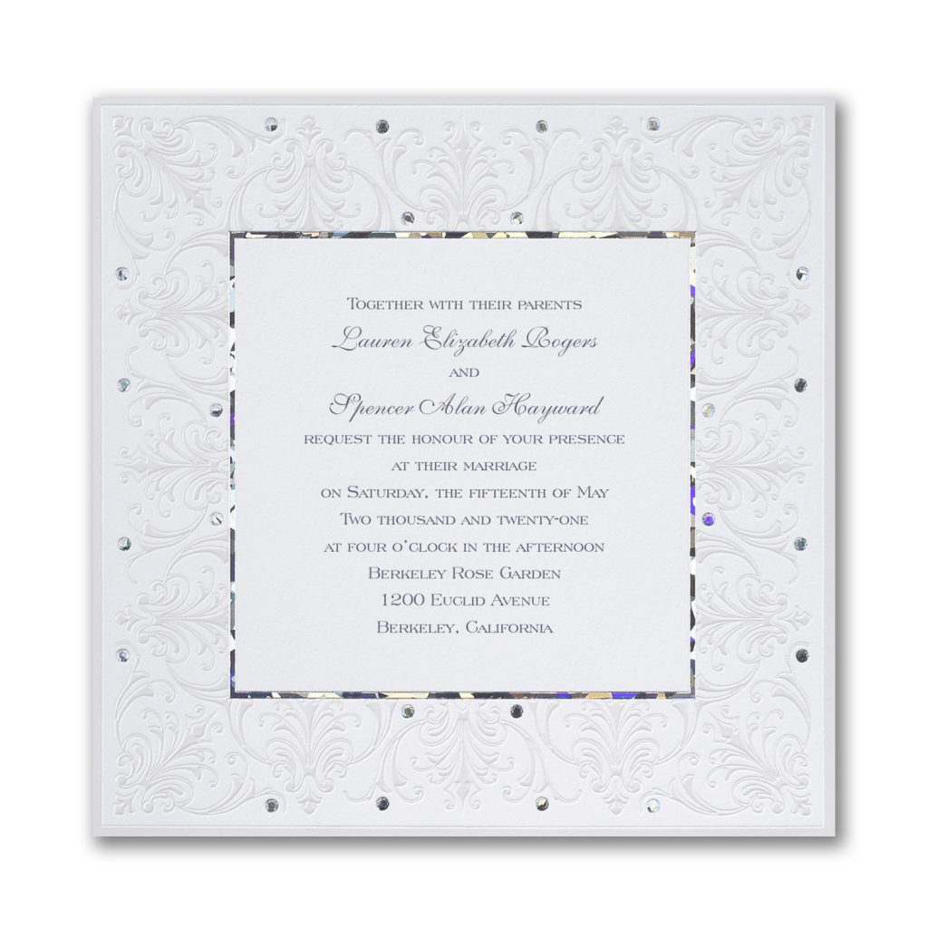 jeweled love invitation