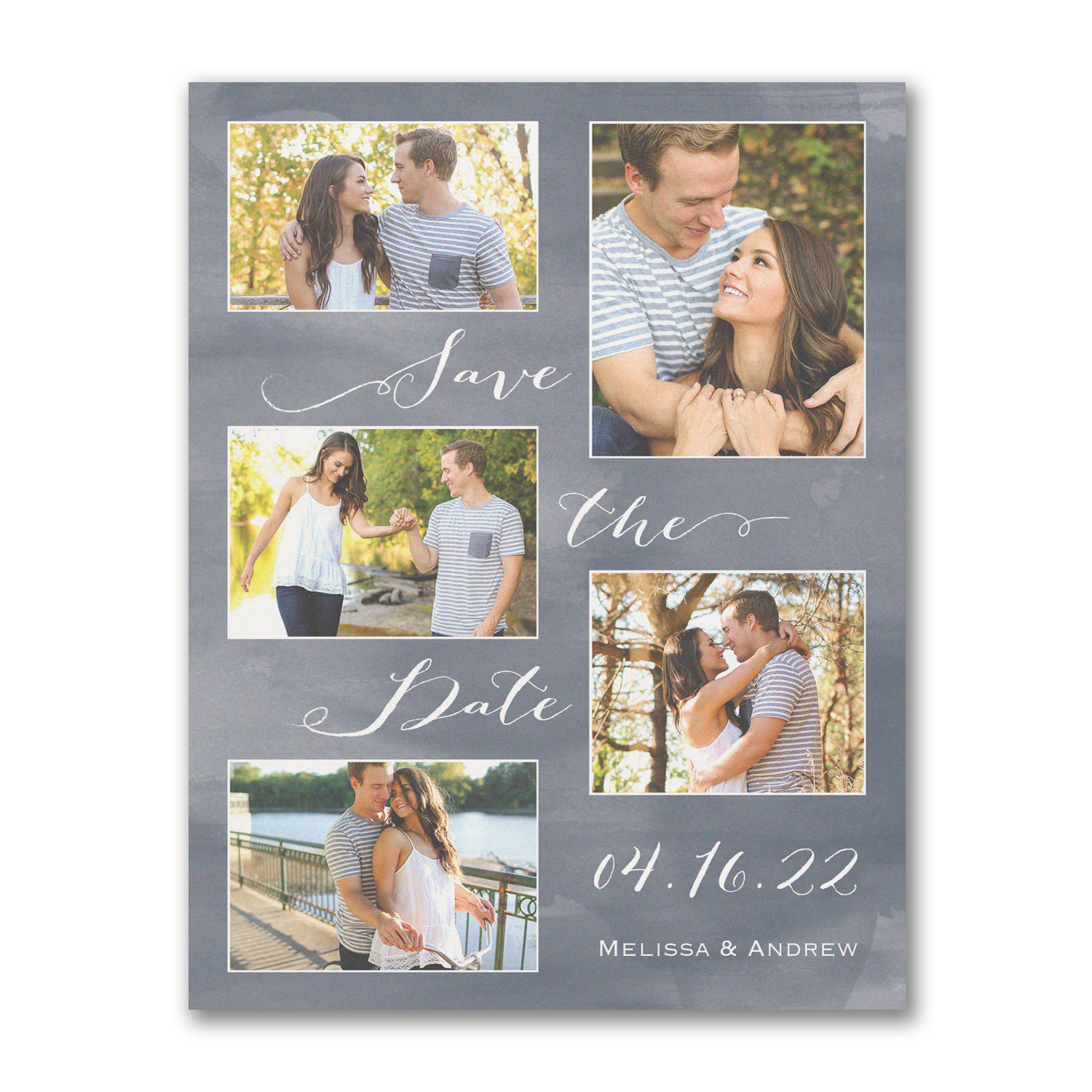 joyous romance photo collage save the date carlson craft