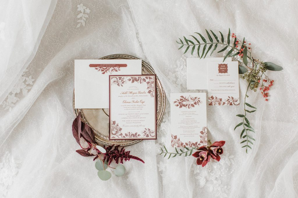 autumn red wedding invitations caroline logan photography custom wedding invitations