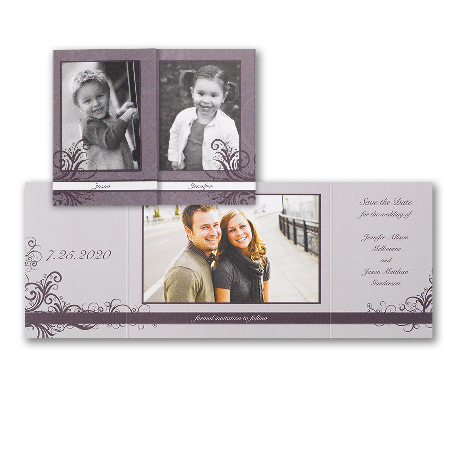 kids at heart photo save the date trifold kid photos carlson craft