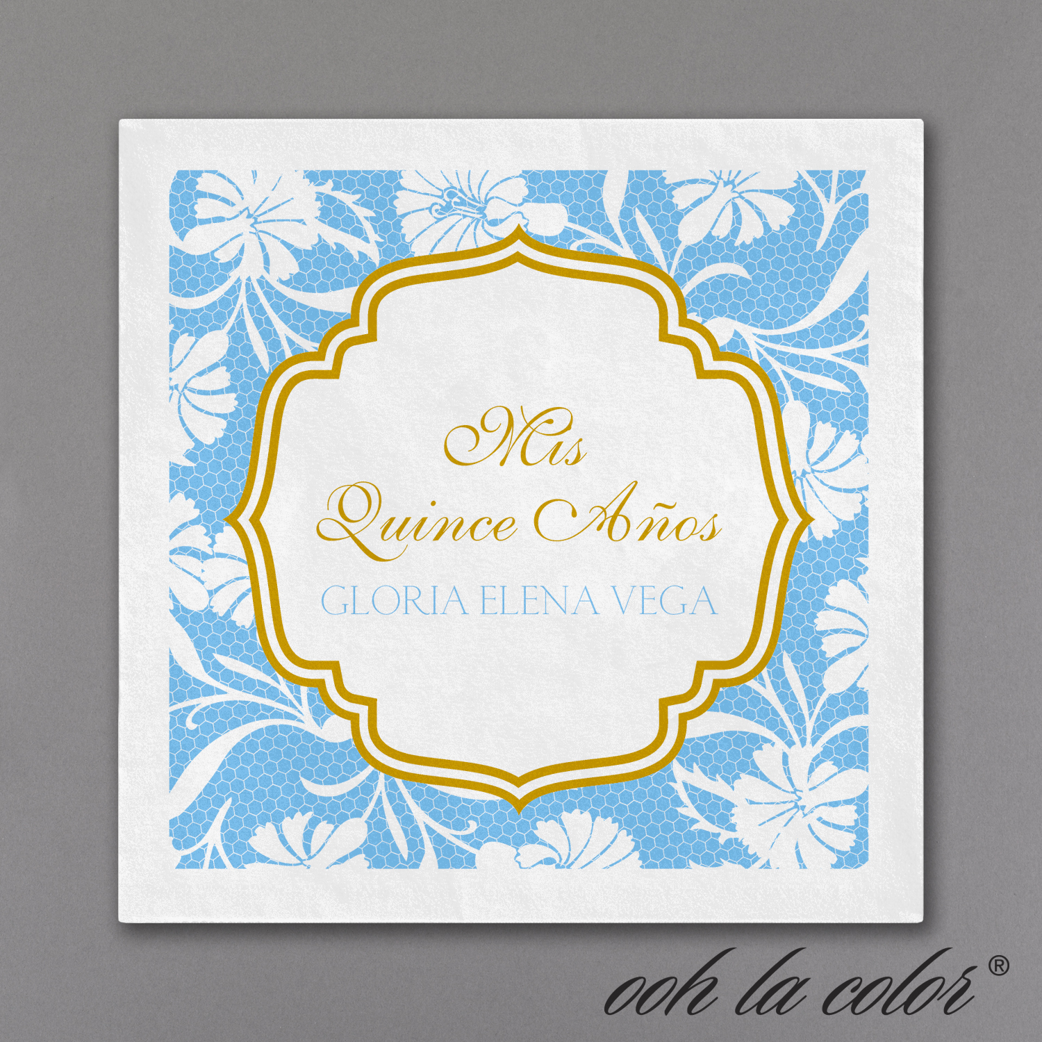 lace patterned quinceanera napkin
