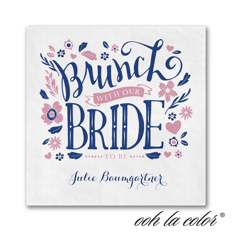 let's do brunch napkin bridal shower