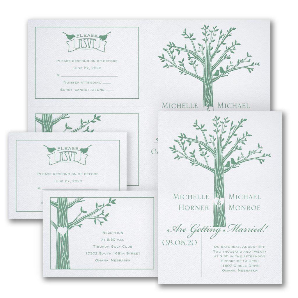 love naturally wedding invitation budget friendly