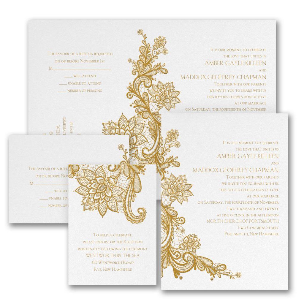 lace wedding invitation budget friendly