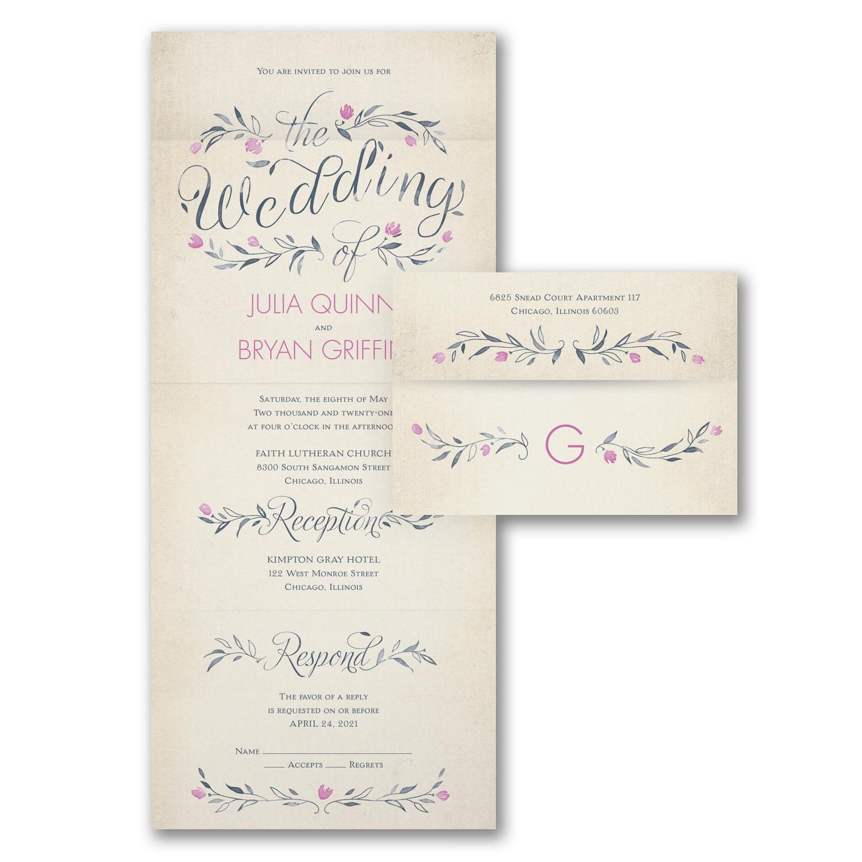 rustic wedding invitation wedding magic