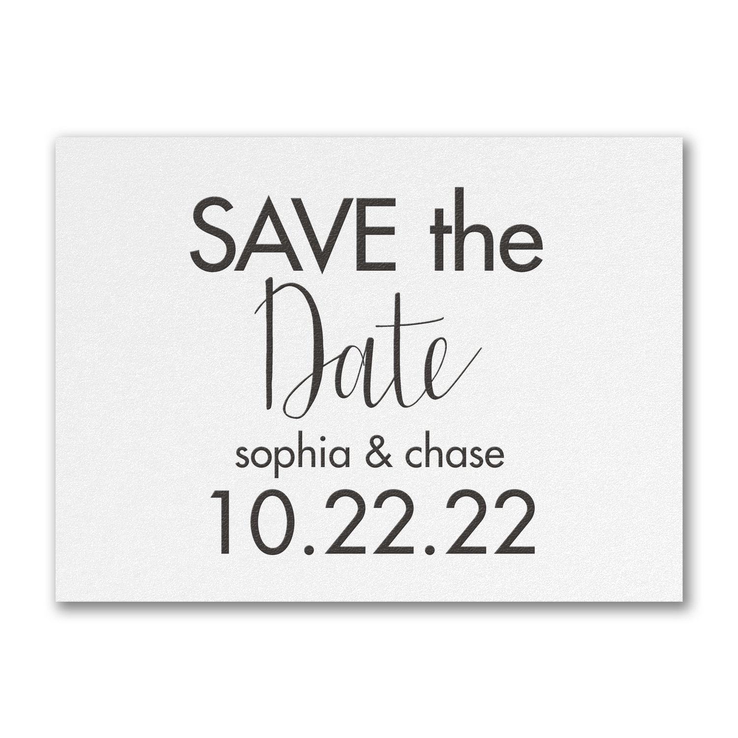 modern date save the date carlson craft