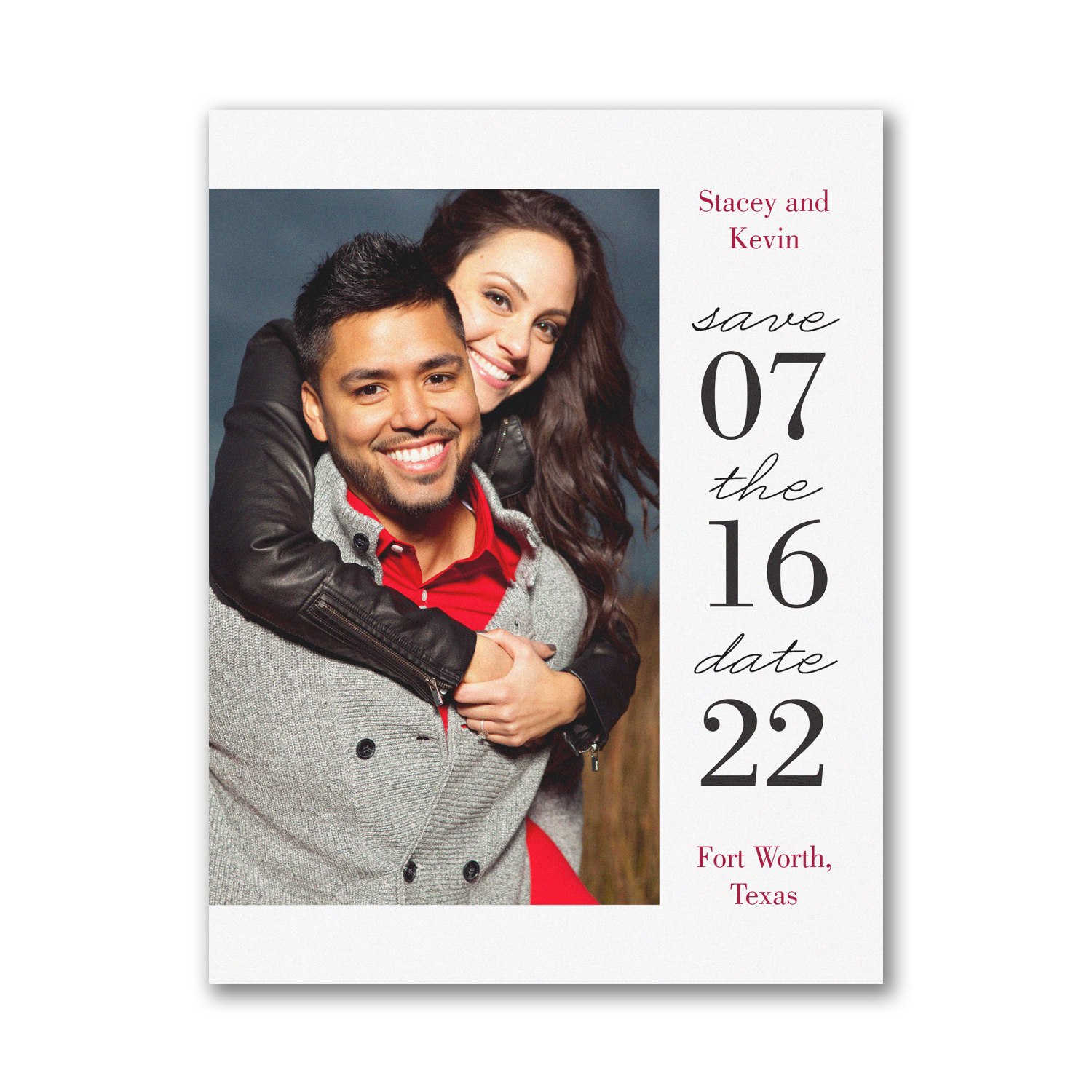 modern day photo save the date carlson craft