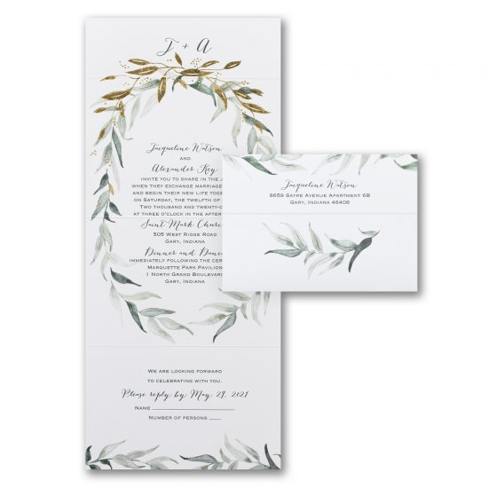 natural rustic all in one invitation