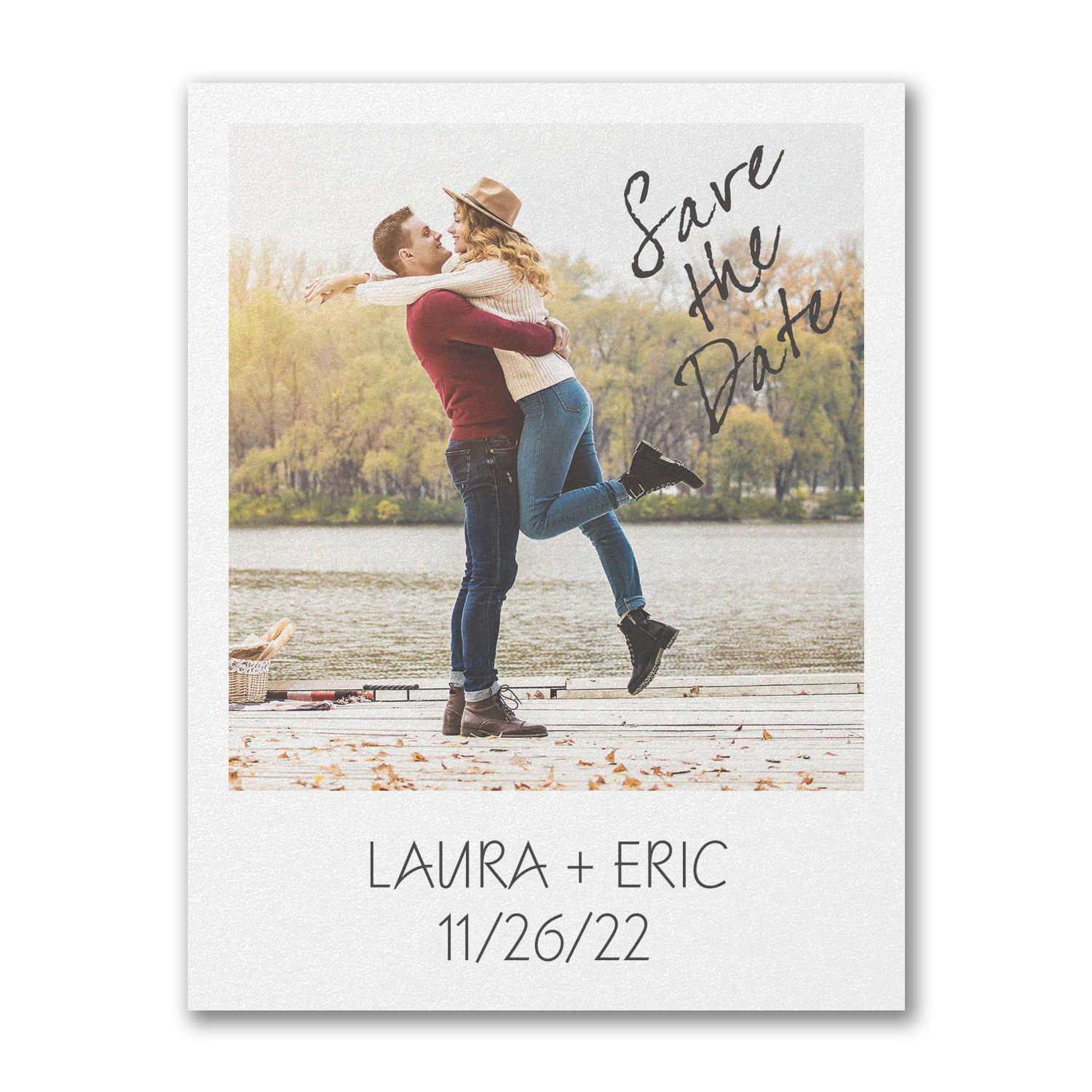 our bond photo postcard save the date carlson craft