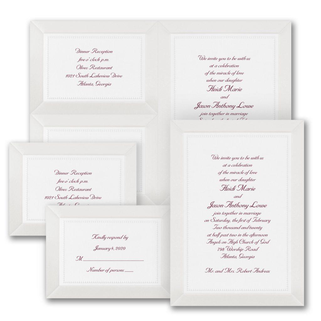 pearl glimmer wedding invitation budget friendly