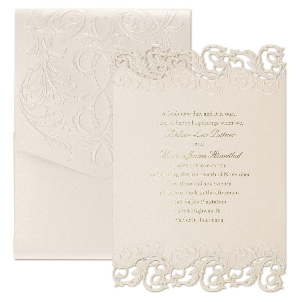 laser cut and foil invitation