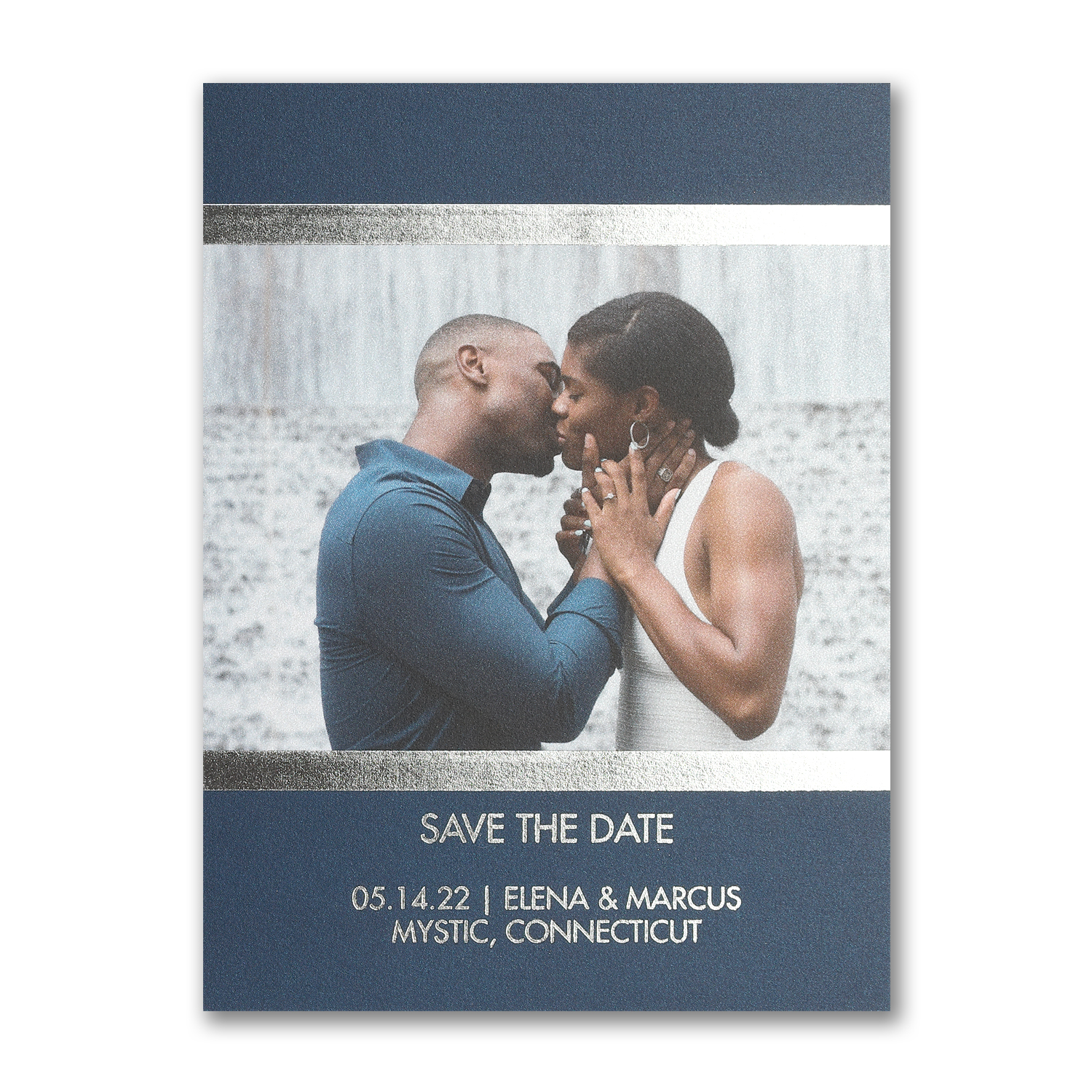 shining romance foil photo save the date carlson craft