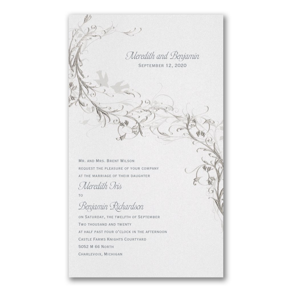 silver vines invitation