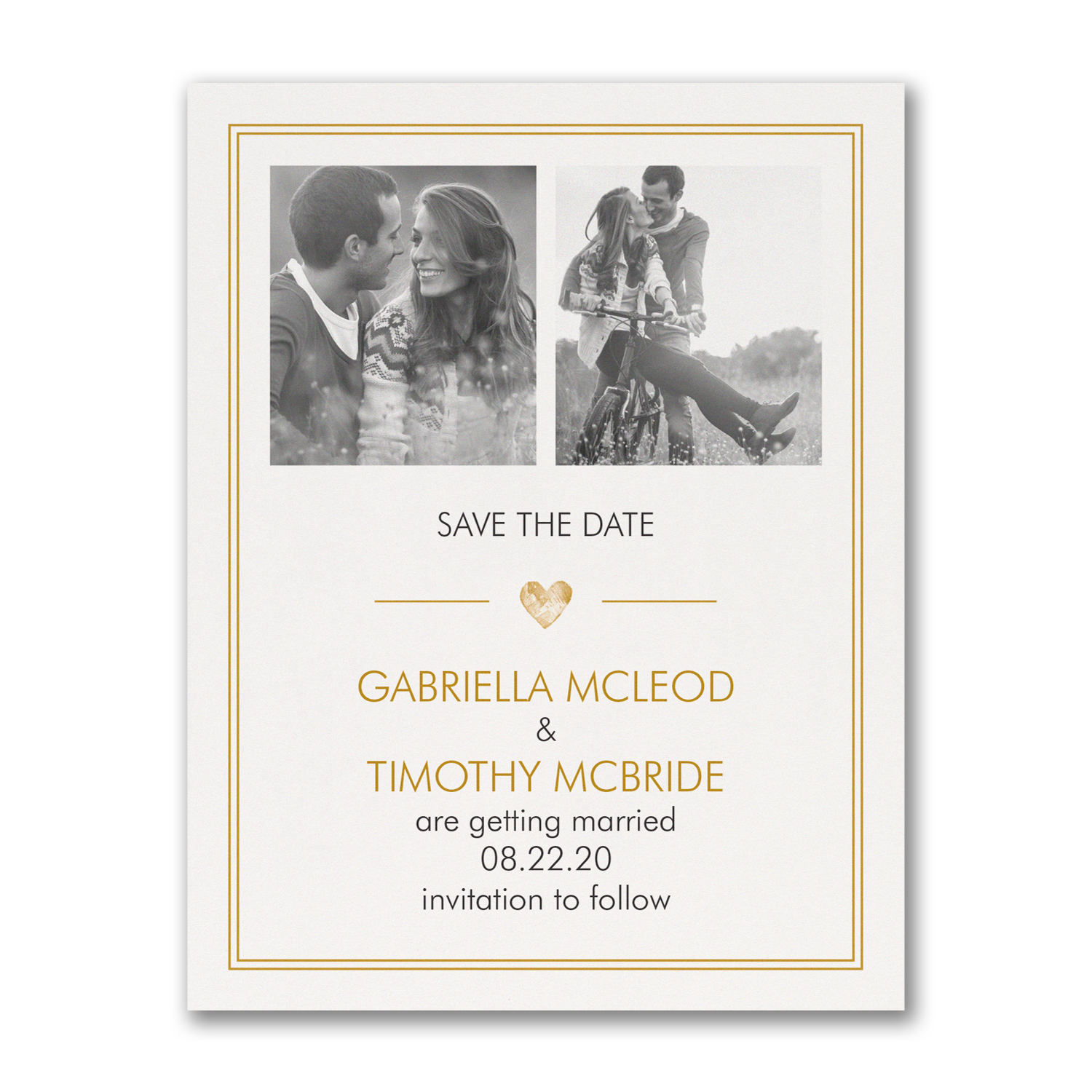 simple love photo save the date carlson craft